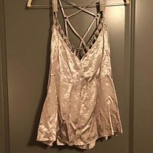 Free people shimmery tank top